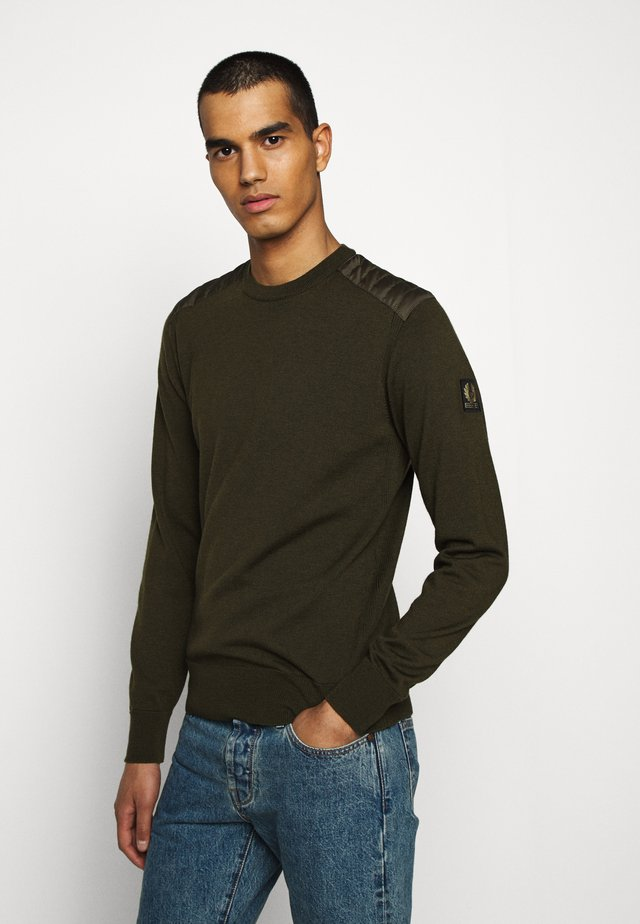 KERRIGAN CREW NECK - Strikkegenser - salvia
