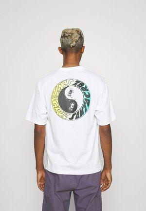 SCREAM YING YANG RING UNISEX  - T-shirt print - white