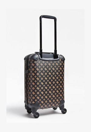 GUESS TROLLEY WILDER LOGO PEONY - Wheeled suitcase - braun