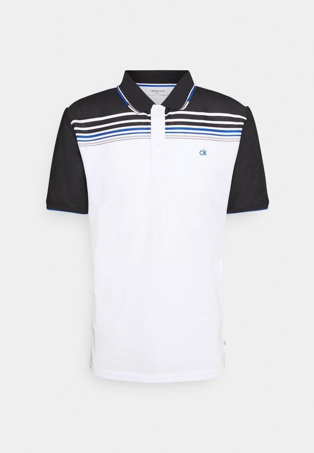 NELSON - Polo shirt - white/black