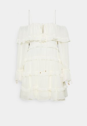 DAISY RUFFLE MINI DRESS - Day dress - porcelain