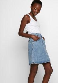CLOSED - IBBIE - A-line skirt - mid blue - 3