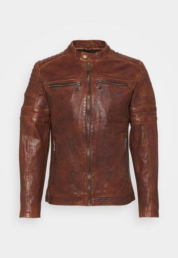 CRUISE ACTION - Leather jacket - chestnut