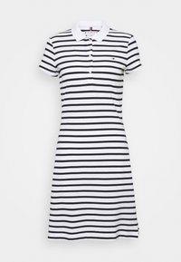 Tommy Hilfiger - STRIPE SLIM DRESS - Day dress - white/desert sky - 0