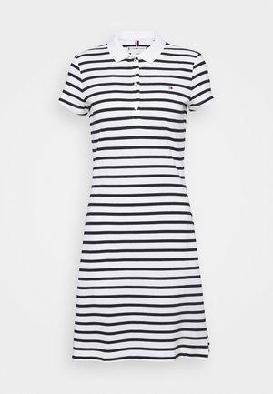 STRIPE SLIM DRESS - Day dress - white/desert sky