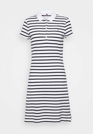 STRIPE SLIM DRESS - Robe d'été - white/desert sky