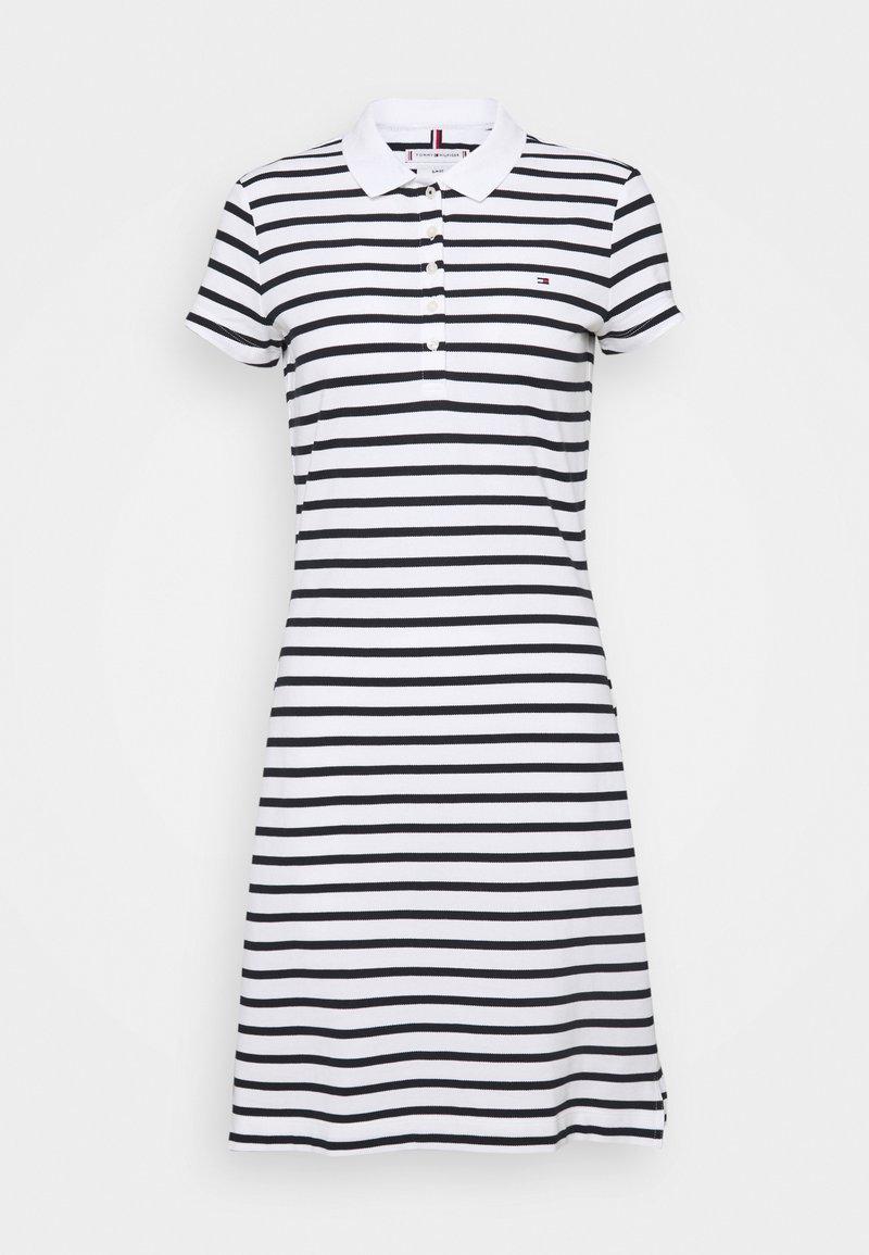 Tommy Hilfiger - STRIPE SLIM DRESS - Day dress - white/desert sky