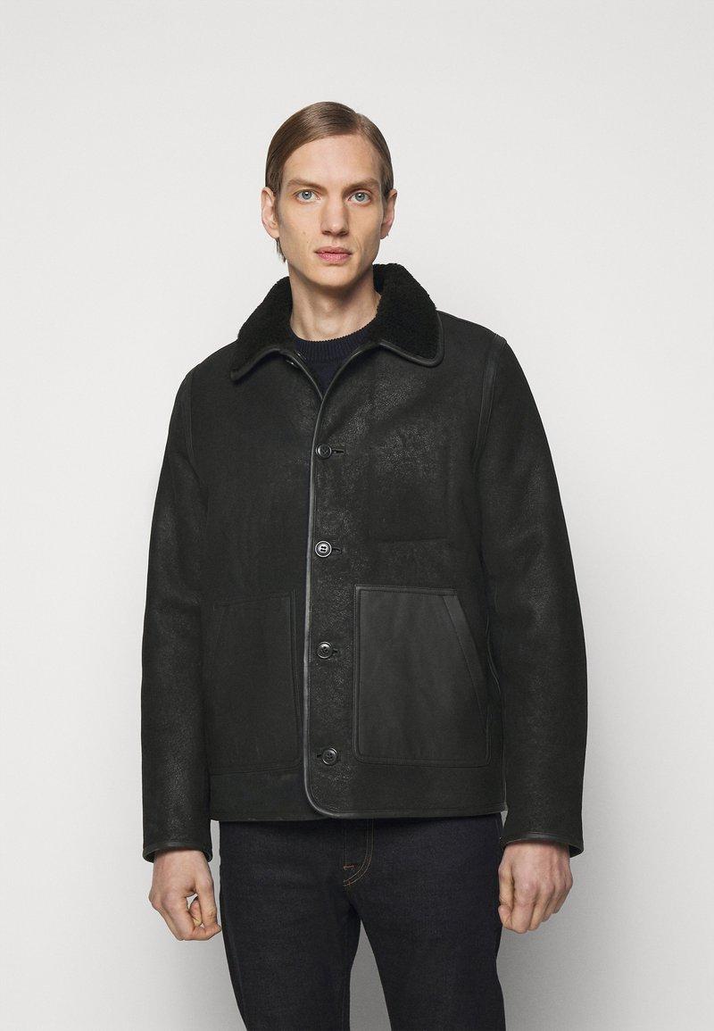 PS Paul Smith - JACKET - Leather jacket - black