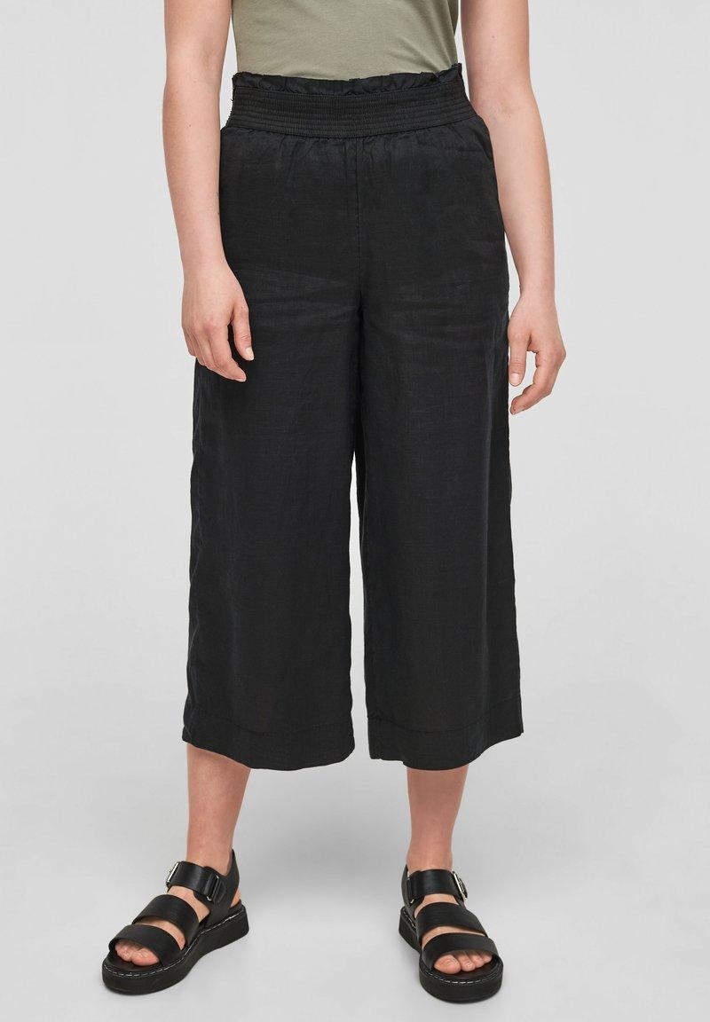 s.Oliver - Trousers - black melange