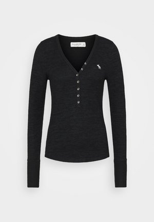 COZY HENLEY - Jumper - black