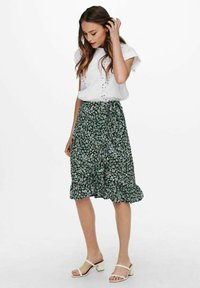 ONLY - Wrap skirt - dusty turquoise - 1