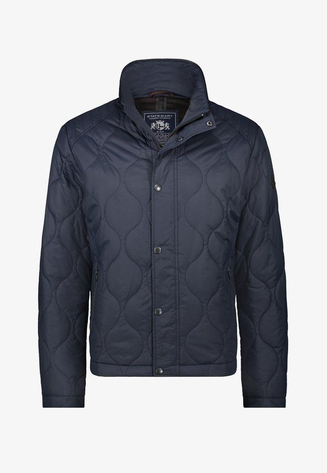 Winter jacket - dark-blue plain