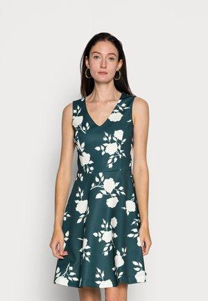 Cocktail dress / Party dress - dark green/white
