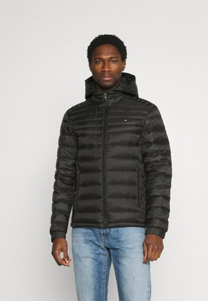 PACKABLE HOODED JACKET - Down jacket - black