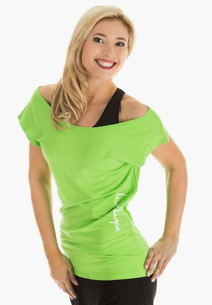 Print T-shirt - apfelgrün