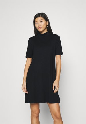 MOCK NECK DRESS - Jumper dress - true black