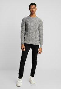 Calvin Klein - MOULINE TEXTURE SWEATER - Jumper - white - 1
