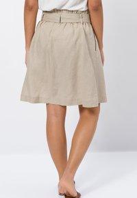 zero - A-line skirt - beige - 2