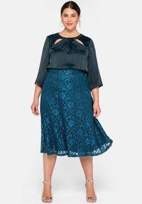 Sheego - A-line skirt - dunkelpetrol - 1