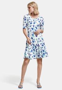 Taifun - Jersey dress - blue curacao gemustert - 1
