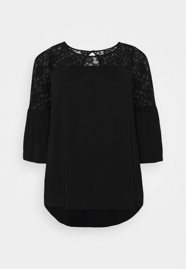 YOKE - Long sleeved top - black