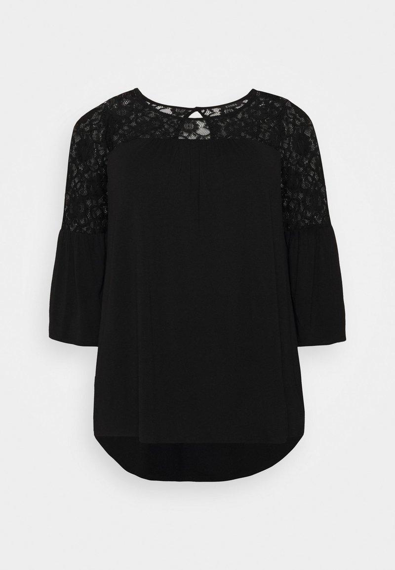 Evans - YOKE - Long sleeved top - black
