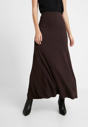 AMILIA SKIRT - Falda larga - chestnut