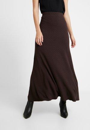 AMILIA SKIRT - Maxi sukně - chestnut