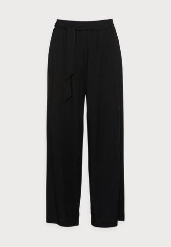 PANTS WOVEN - Trousers - black