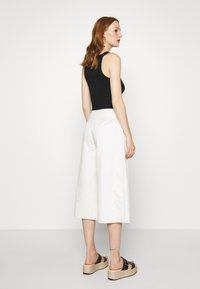 Who What Wear - OVERWRAP CULOTTES - Trousers - powder - 2