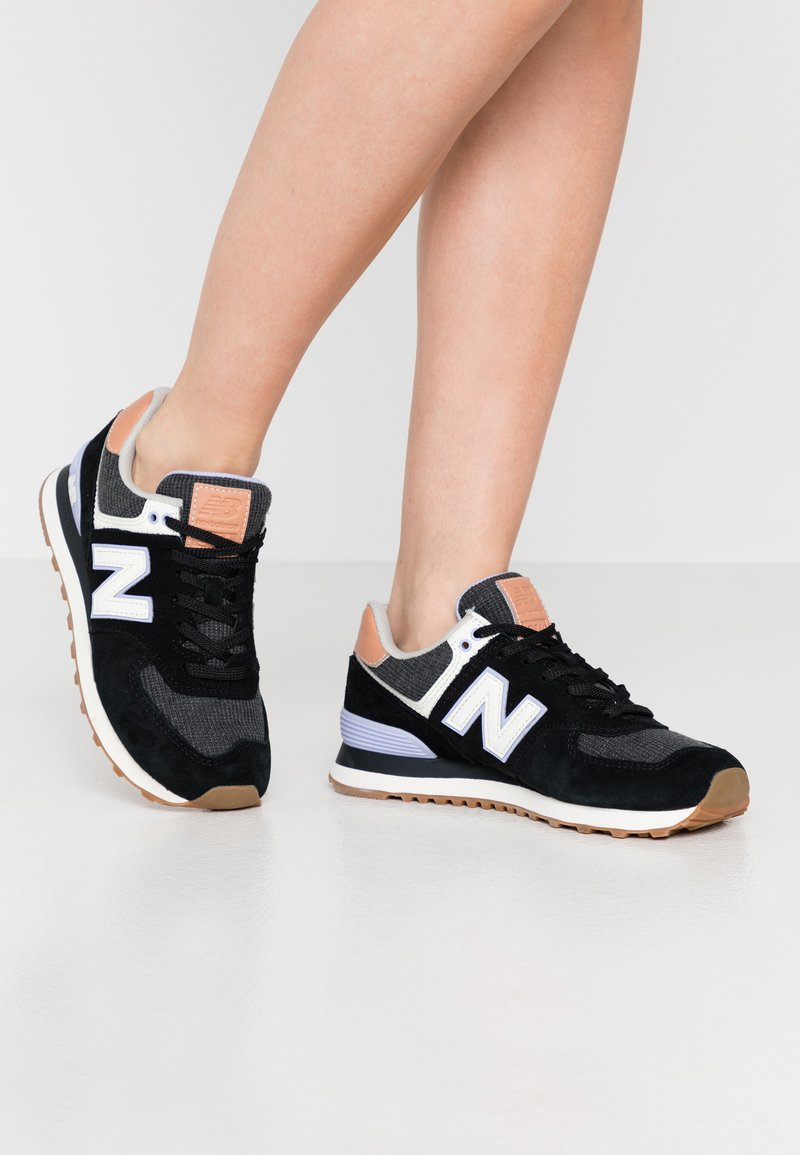 New Balance - WL574 - Sneakersy niskie - black