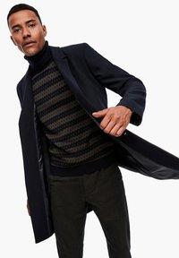 s.Oliver BLACK LABEL - IM CLASSIC SHAPE - Short coat - dark blue melange - 4