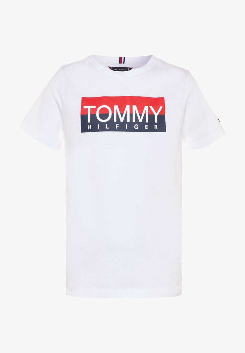 Tommy Hilfiger - REFLECTIVE TEE  - T-shirt print - white