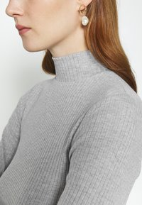 Cotton On - MILA MOCK NECK LONG SLEEVE - Long sleeved top - silver marle - 4