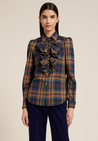Luisa Spagnoli - LUTER - Button-down blouse - var blu/tabacco - 0