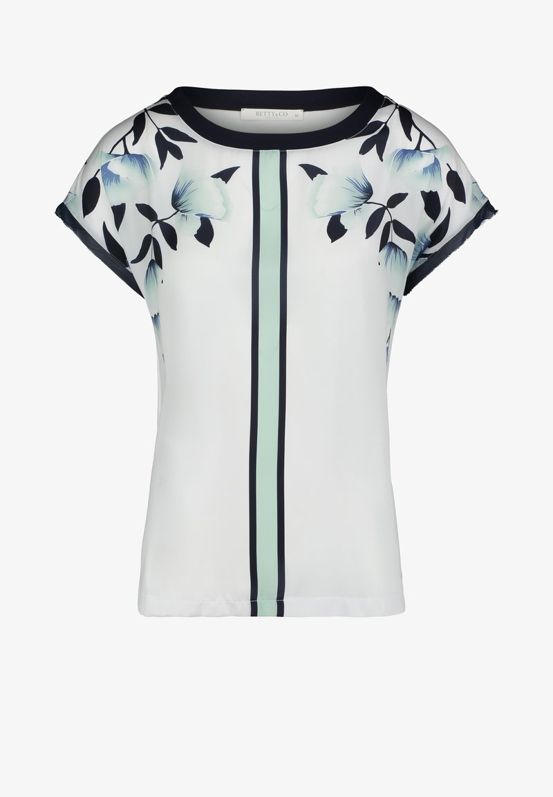Betty & Co - MIT PRINT - Blouse - white/emerald