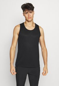 Casall - STRUCTURED TANK - Top - black - 0