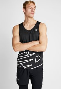 New Balance - PRINTED ACCELERATE SINGLET - Camiseta de deporte - black/white - 0