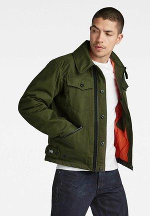 FLIGHT COMBAT PADDED - Summer jacket - dk bronze green