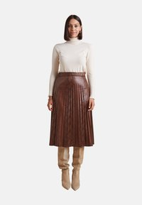 Elena Mirò - GONNA PLISSÉ - A-line skirt - marrone - 1
