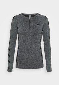 ONPSUE CIRCULAR ZIP TRAINING  - Camiseta de deporte - dark grey melange/black