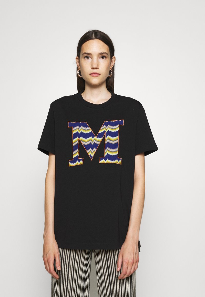 M Missoni - SHORT SLEEVE - Print T-shirt - black beauty