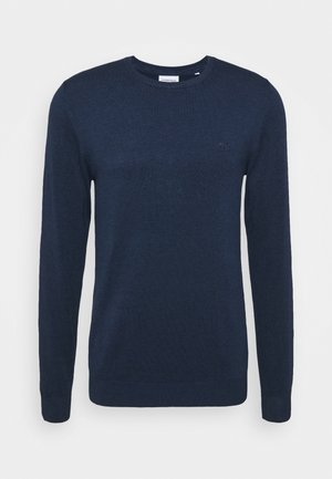 ROUND NECK - Stickad tröja - medium blue