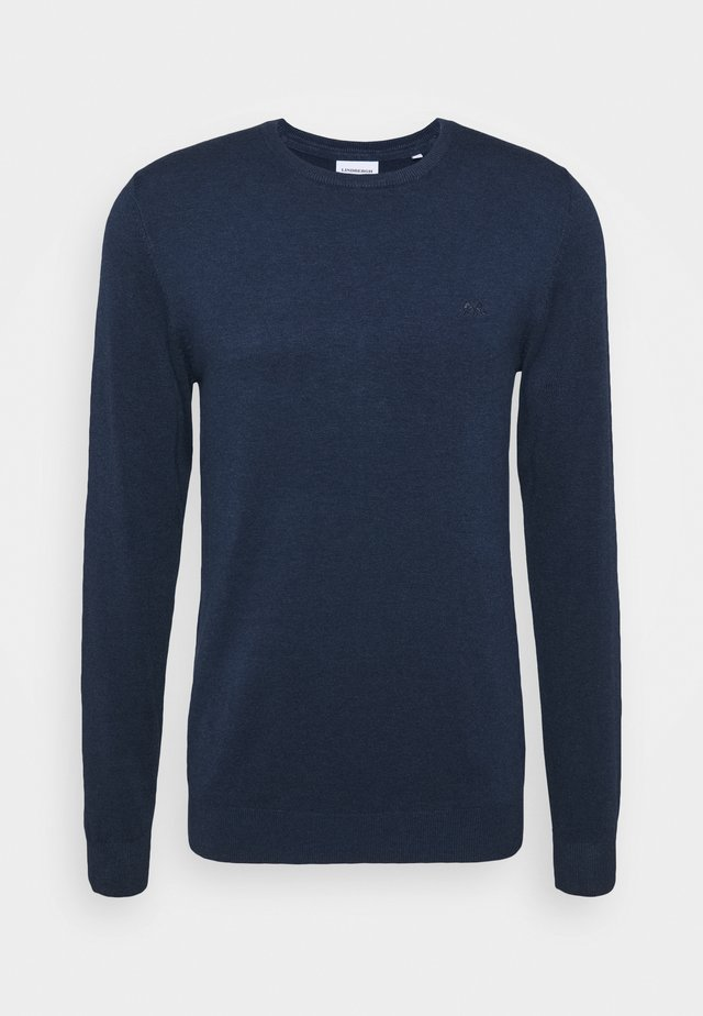 ROUND NECK - Pullover - medium blue