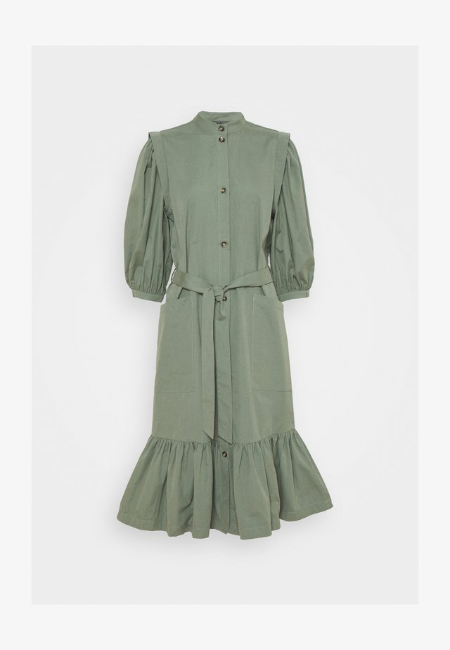 BASIL GALLIANA DRESS - Korte jurk - moss