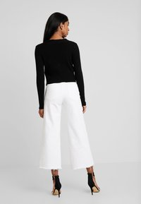 Missguided - SKINNY CROPPED CARDIGAN - Cardigan - black - 2