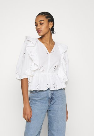 ONLIRMA V-NECK - Blouse - cloud dancer