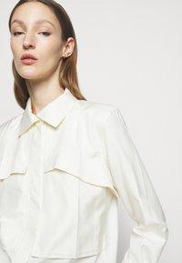 Victoria Beckham - FUNNEL NECK  - Button-down blouse - off white - 3