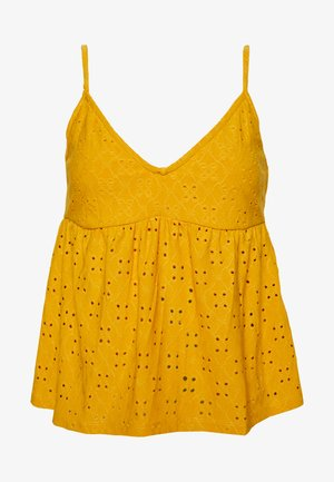 VIKAWA FESTIVAL CROPPED SINGLET - Top - mineral yellow