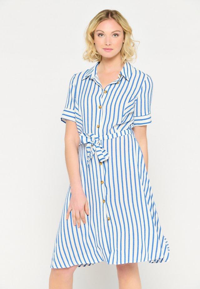 STRIPED - Shirt dress - blue
